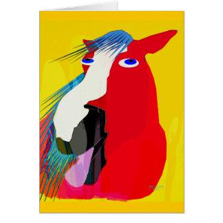 Cartão A coleção Bocejo-Lunática grande do cavalo