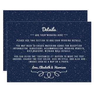 Cartão A coleção do casamento da noite estrelado -