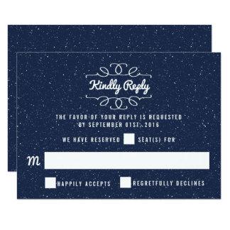Cartão A coleção do casamento da noite estrelado - RSVP