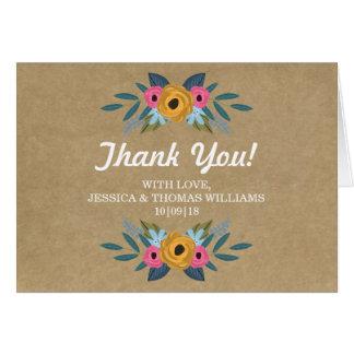 Cartão A coleção floral rústica do casamento da grinalda
