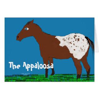 Cartão A coleção lunática do cavalo do appaloosa