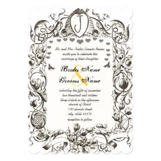Cartão A colmeia rústica romântica da abelha do vintage