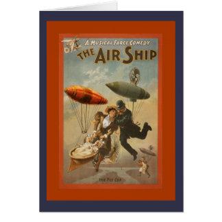 Cartão A comédia do navio do ar