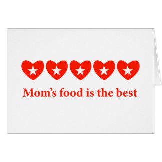 Cartão A comida da mãe é o melhor