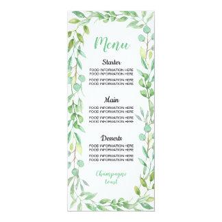 Cartão A comida do casamento do menu carda a recepção do