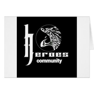 Cartão A comunidade dos heróis