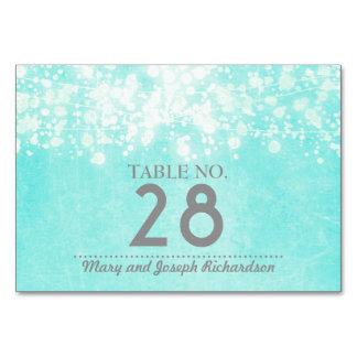 Cartão A corda azul ilumina o casamento