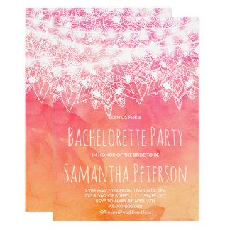 Cartão A corda cor-de-rosa da mandala da aguarela ilumina