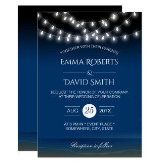 Cartão A corda do casamento de praia ilumina a brisa de