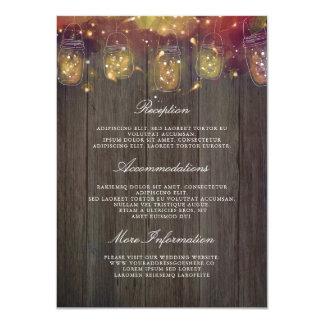 Cartão A corda do frasco de pedreiro ilumina o convidado