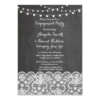 Cartão A corda do giz do casamento ilumina o noivado do
