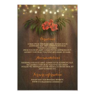 Cartão A corda floral tropical ilumina a inserção do