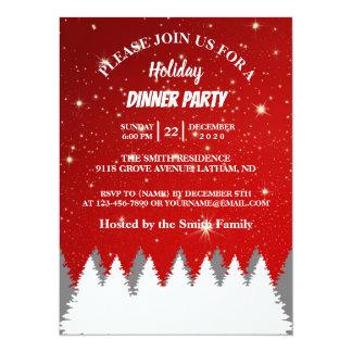 Cartão A corda Stars a festa natalícia da árvore de