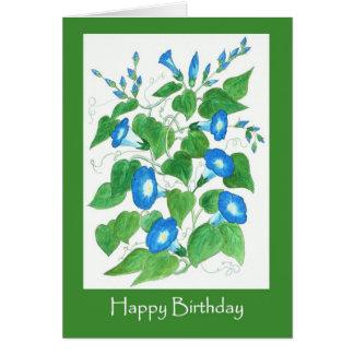 Cartão A corriola azul brilhante bonito floresce o