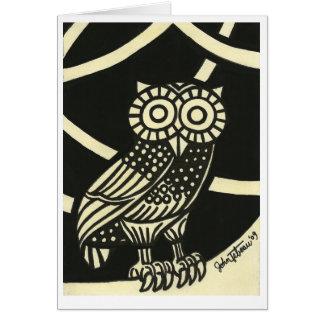 Cartão A coruja de Minerva