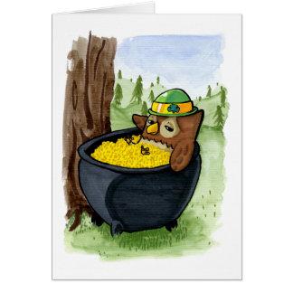 Cartão A coruja de St Patrick