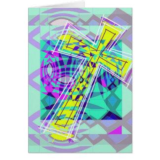 Cartão A cruz e os peixes