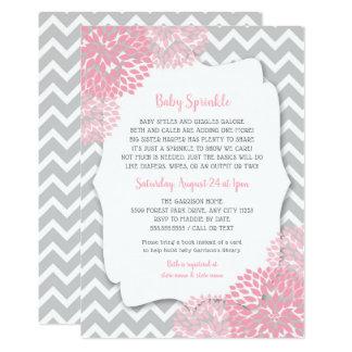 Cartão A dália que cor-de-rosa moderna o bebê polvilha