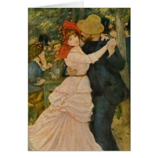Cartão A dança de Pierre-Auguste Renoir em Bougival