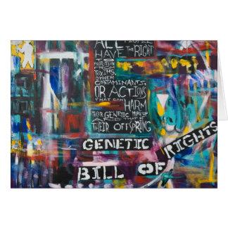 Cartão A Declaração de Direitos genética que pinta o