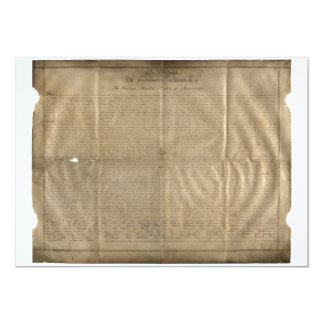 Cartão A declaração de Sussex de independência (C. 1780)