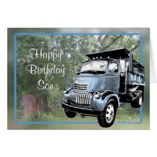 Cartão A descarga antiga Caminhão-personaliza toda a