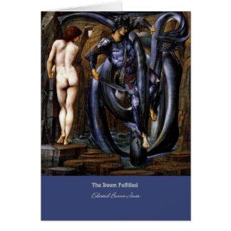 """Cartão """"A desgraça cumprida"""", por Edward Burne-Jones"""