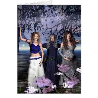 Cartão A deusa tripla
