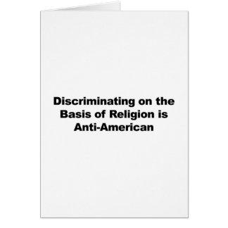 Cartão A discriminação na religião é Anti-Americana