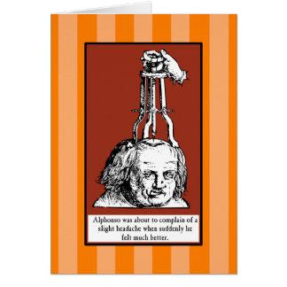 Cartão A dor de cabeça de Alphonso