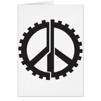 Cartão A engrenagem da paz da PÁGINA