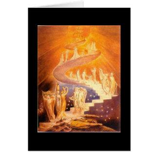 Cartão A escada de Jacob de William Blake