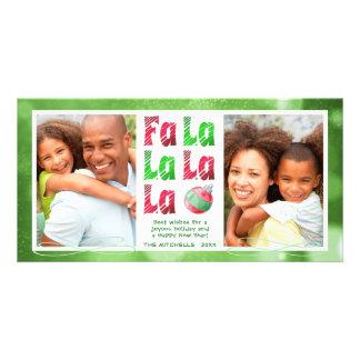 Cartão A escova da aguarela de FaLaLa vermelha &