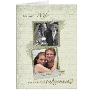 Cartão À esposa no aniversário do __th - costume então &