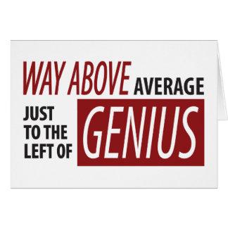 Cartão À esquerda do gênio