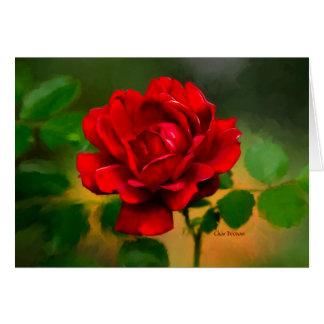 """Cartão A """"essência"""" de uma rosa vermelha!"""