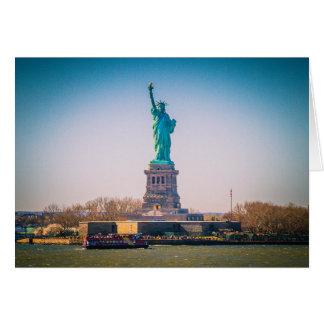 Cartão A estátua da liberdade