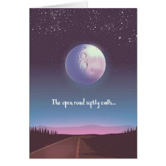 Cartão A estrada aberta chama macia