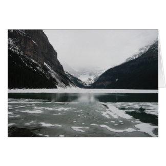 Cartão A extremidade do inverno, Lake Louise