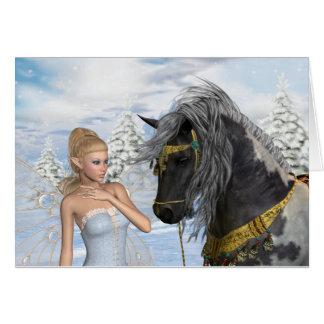 Cartão A fada e o garanhão, um conto do Natal