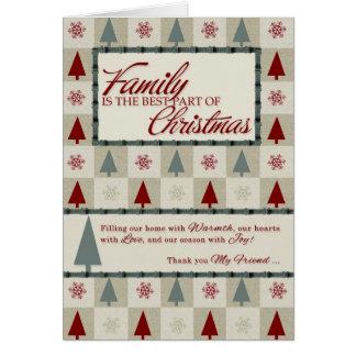 Cartão A família é a melhor parte do Natal
