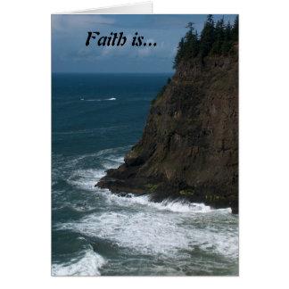Cartão A fé é…