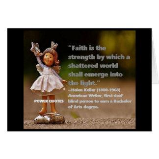 """Cartão A """"fé é a força por que…"""