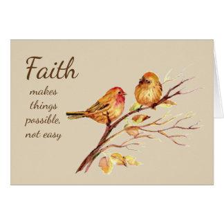 Cartão A fé faz a coisas inspirado nao fácil possível