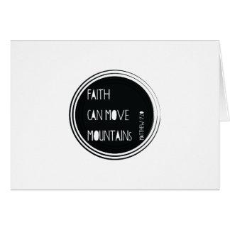 """Cartão A """"fé pode mover verso da bíblia das montanhas"""""""