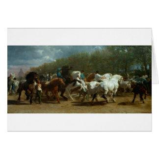 Cartão A feira de cavalo por Rosa Bonheur