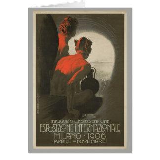 Cartão A feira de mundo 1906 de Milão