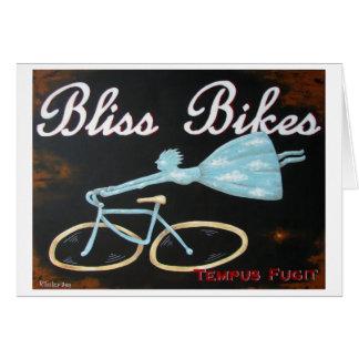 Cartão A felicidade Bikes Notecard