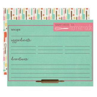 Cartão A felicidade é Cartão-Cerceta caseiro da receita