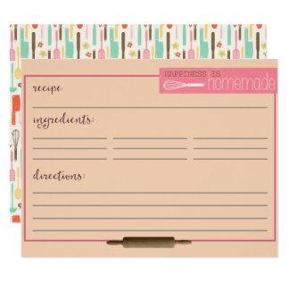 Cartão A felicidade é Cartão-Creme caseiro da receita